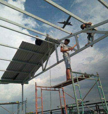 Lợp mái tôn nhà xưởng tại Bình Dương